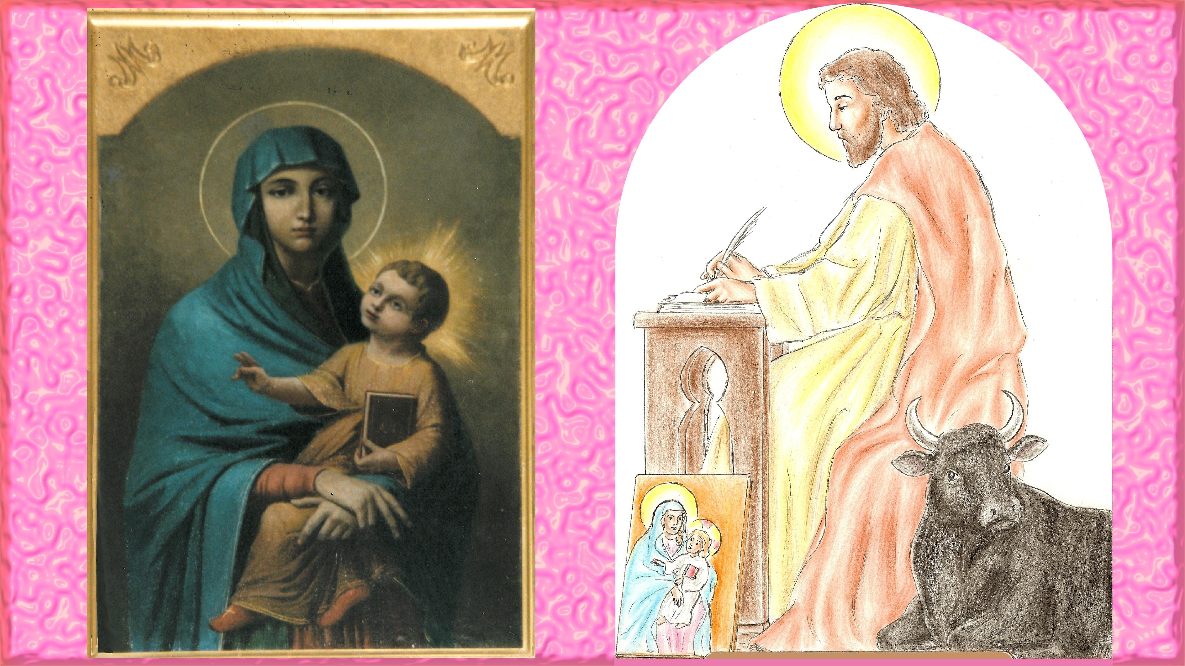 CALENDRIER CATHOLIQUE 2019 (Cantiques, Prières & Images) - Page 12 St-luc-sa-madone-...jeure-1--56ac8bf