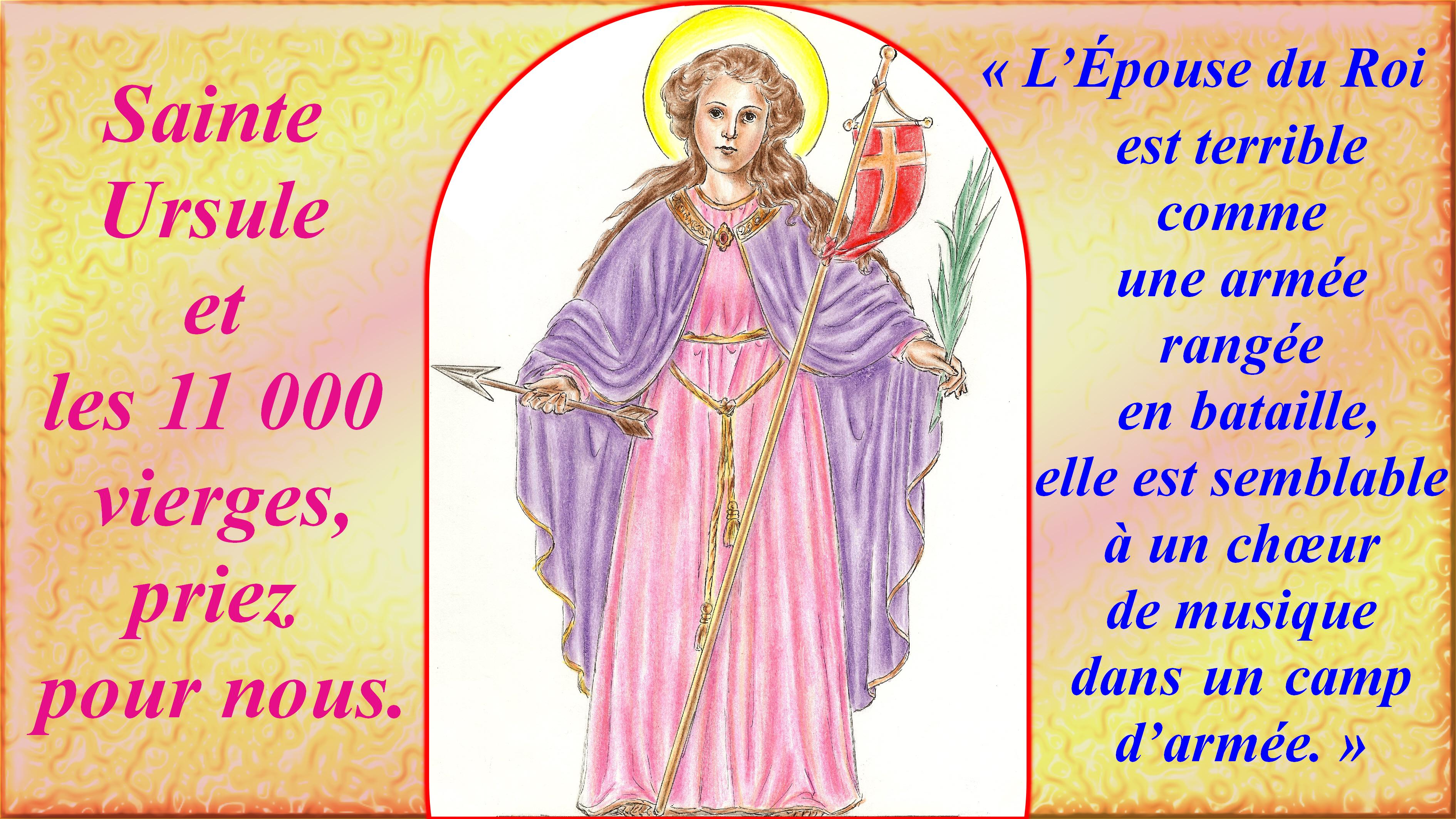CALENDRIER CATHOLIQUE 2019 (Cantiques, Prières & Images) - Page 12 Ste-ursule-56af2cb
