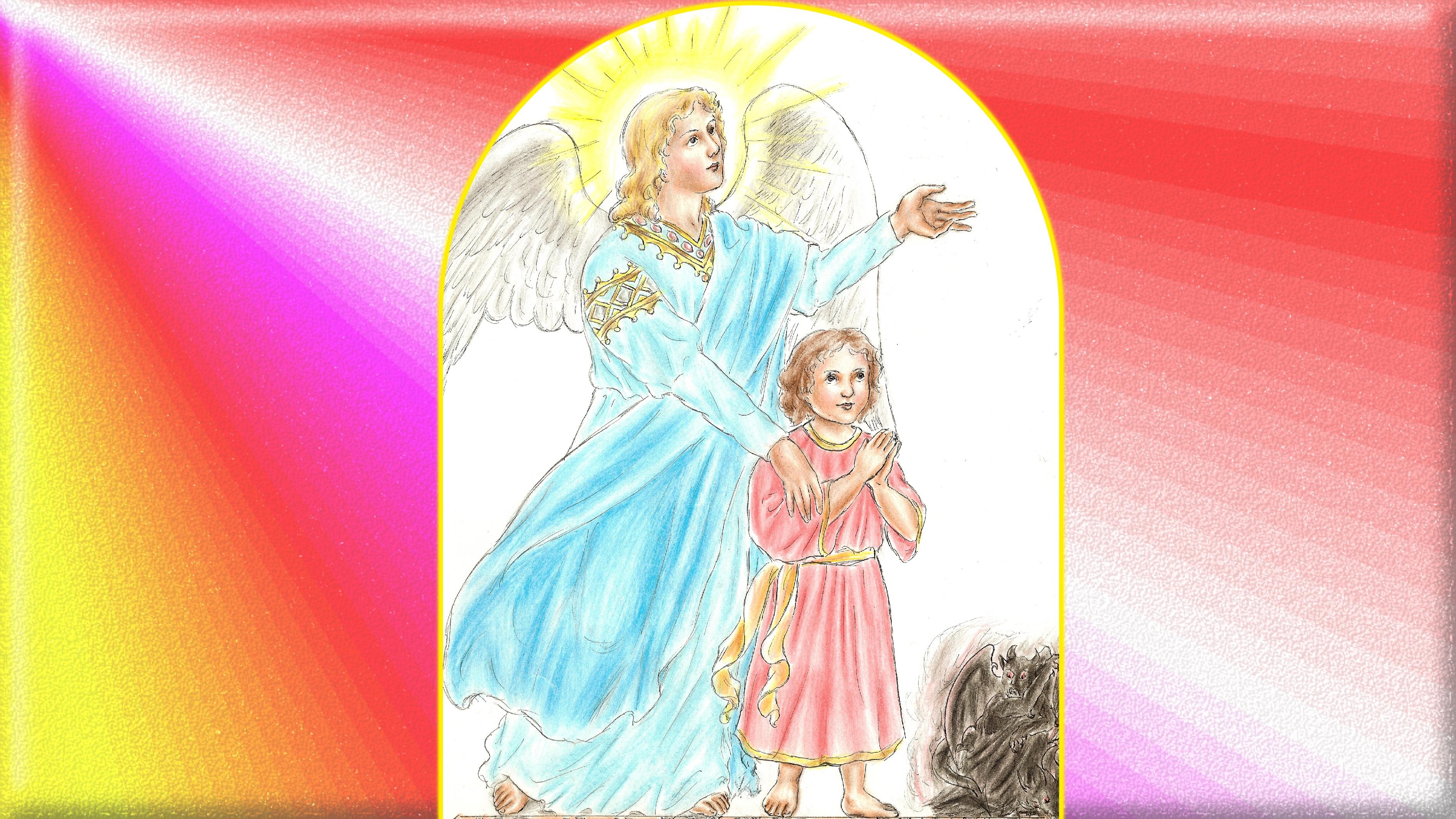 CALENDRIER CATHOLIQUE 2019 (Cantiques, Prières & Images) - Page 10 Le-st-ange-gardien-569f892