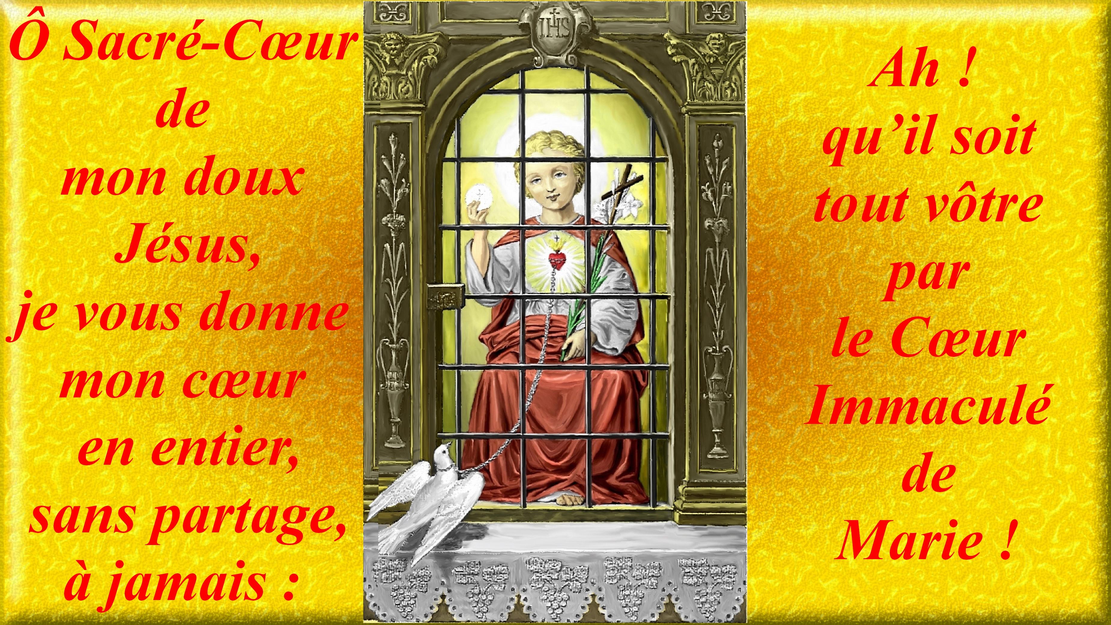 CALENDRIER CATHOLIQUE 2020 (Cantiques, Prières & Images) - Page 18 Le-coeur-eucharis...de-j-sus-56e48f0