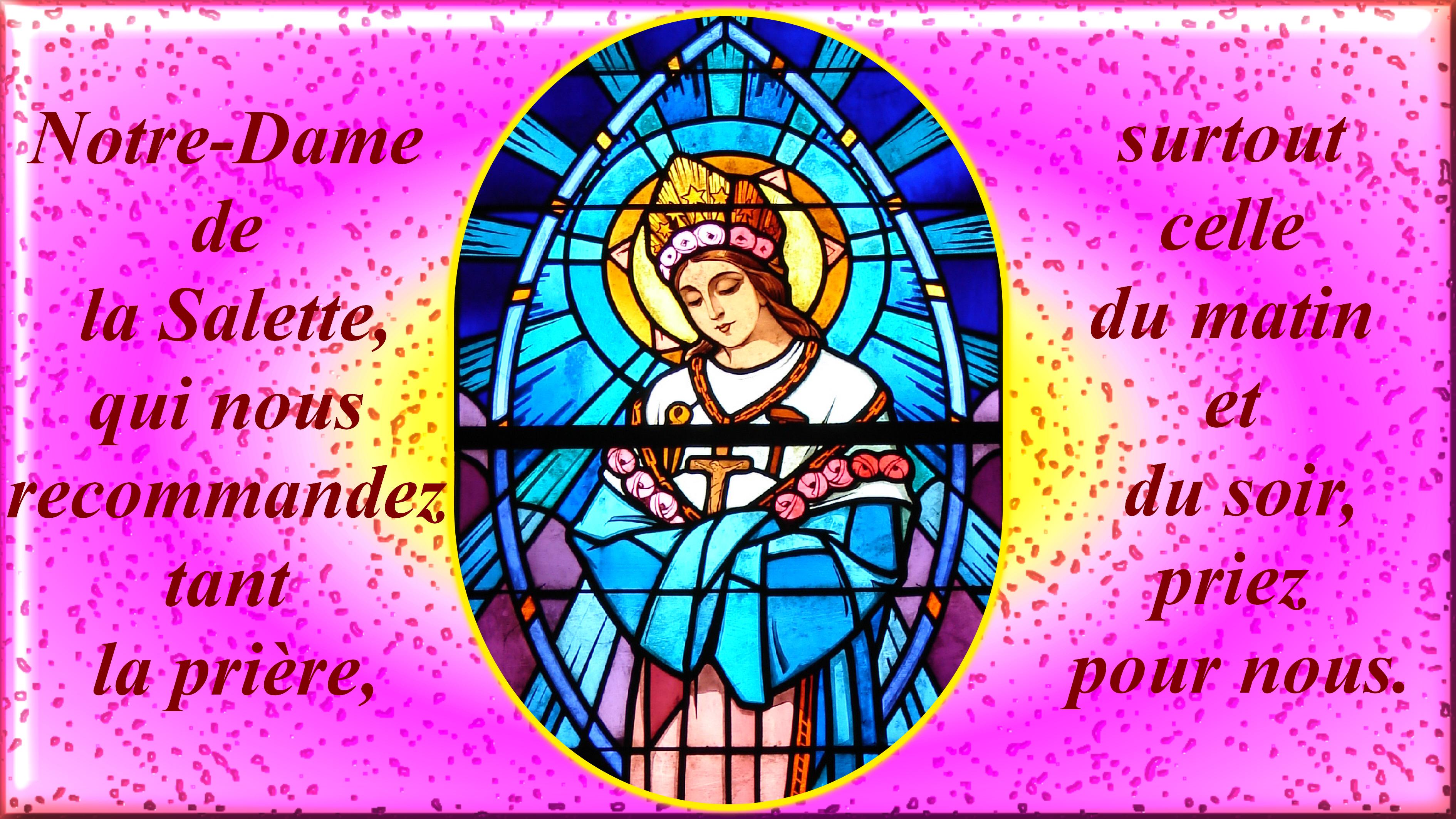 CANTIQUE de l'APPARITION de LA SALETTE Notre-dame-de-la-...vitrail--5694060